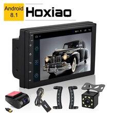 2 Din Android 8.1 araba radyo multimedya oynatıcı evrensel GPS navigasyon Bluetooth WiFi 2din Autoradio Stereo ses kamera DVR harita