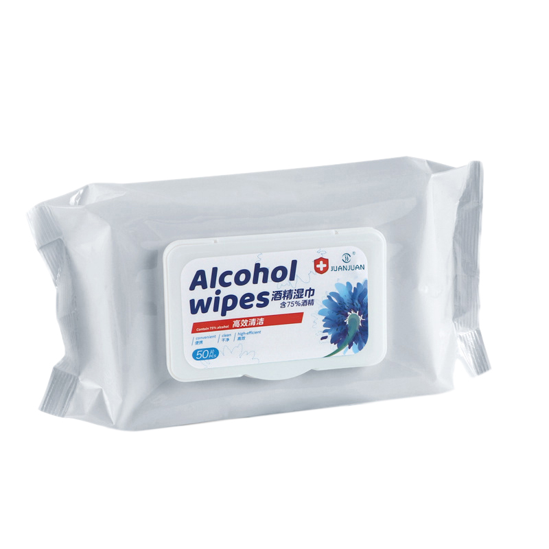 75% Disinfecting Alcohol Wet Wipes Disposable Cleansing, Disinfection, Disinfection, Protective Wet Wipes, Alcohol 50Pcs