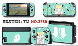 Image 5 - Vinyl Bildschirm Haut Aufkleber Anime Sailor Moon Skins Protector Aufkleber für Nintendo Schalter NS Konsole + Controller + Stand Aufkleber