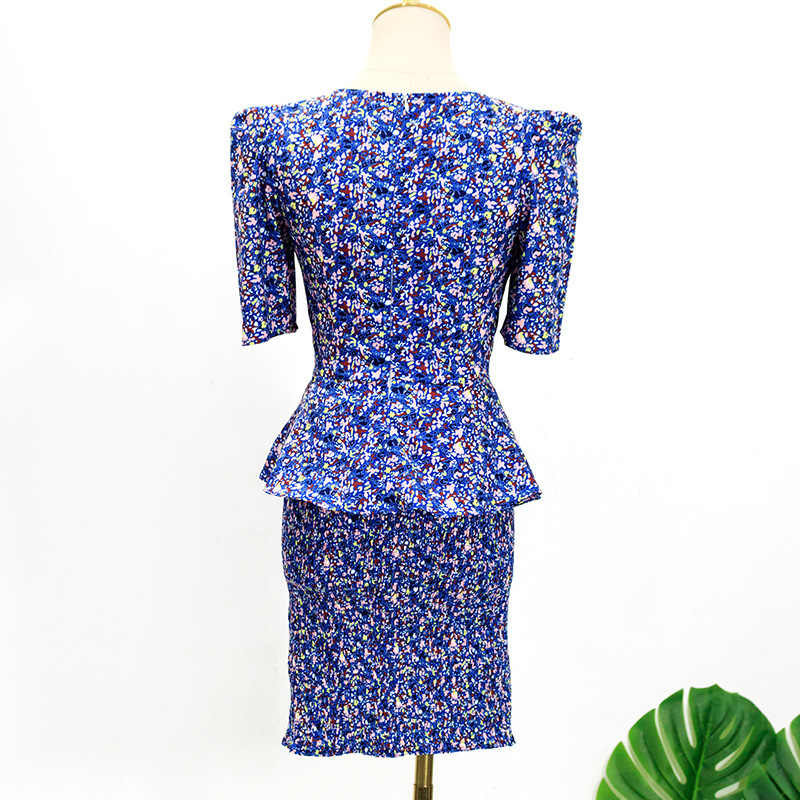 2 Delige Set Vrouwen Mode 쿠이 수 엘리 Drama Tv Vrouwen Tweedelige Outfits Vrouwelijke Elegante Bloemen Lady Shirt + mini Rok