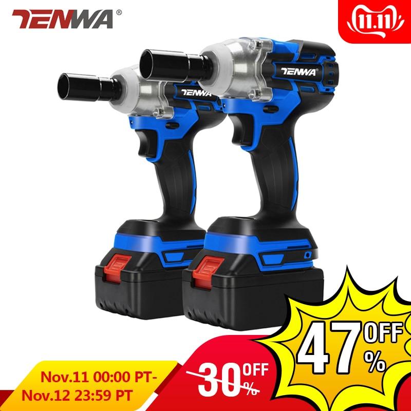 TENWA Brushless Electric Wrench 21V Impact Wrench Socket   4000mAh Li Battery Hand Drill Installation Power Tools
