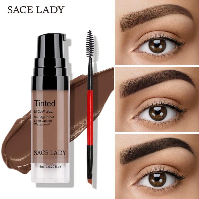 SACE LADY Eyebrow Gel Waterproof Long Lasting Tint Makeup Brush Set Br