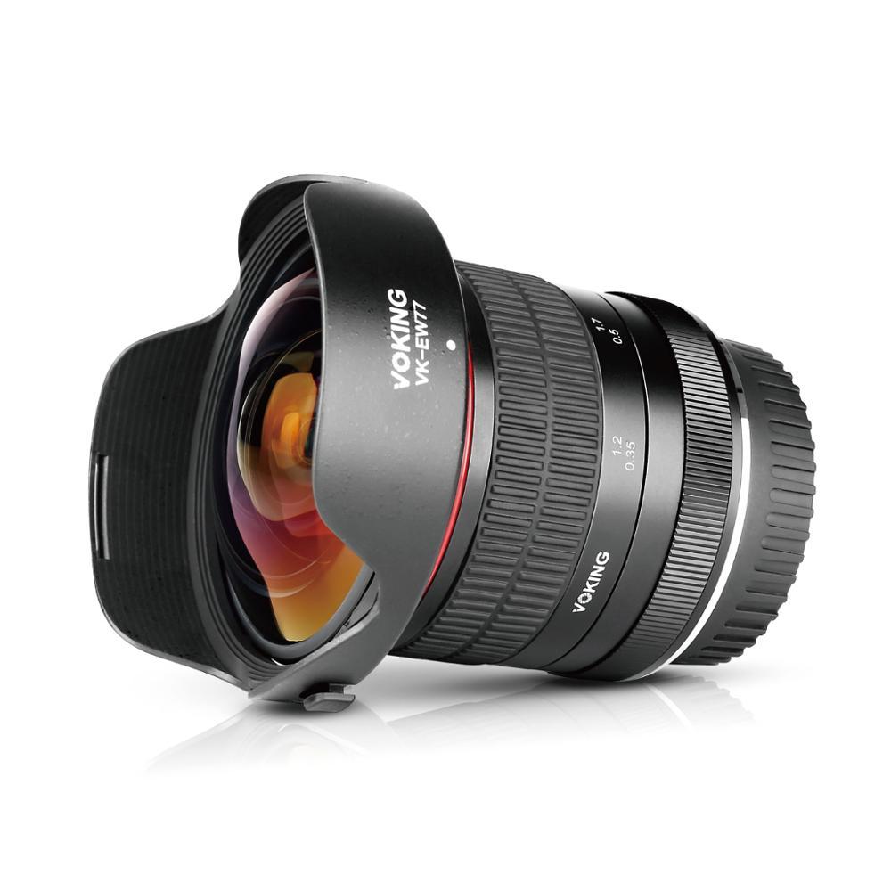 MEKE Meike 8mm f/3.5 Wide Angle Fisheye Lens for Canon 5D 5DII 6D 7D 70D 80D 750D DSLR Cameras with APS-C/Full Frame+Free Gift