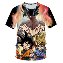 Summer Children clothing 3D Printed T-shirt Boys Girls Dragon Ball T shirt Kids Clothes Fashion Tshirts boys Tops Costume