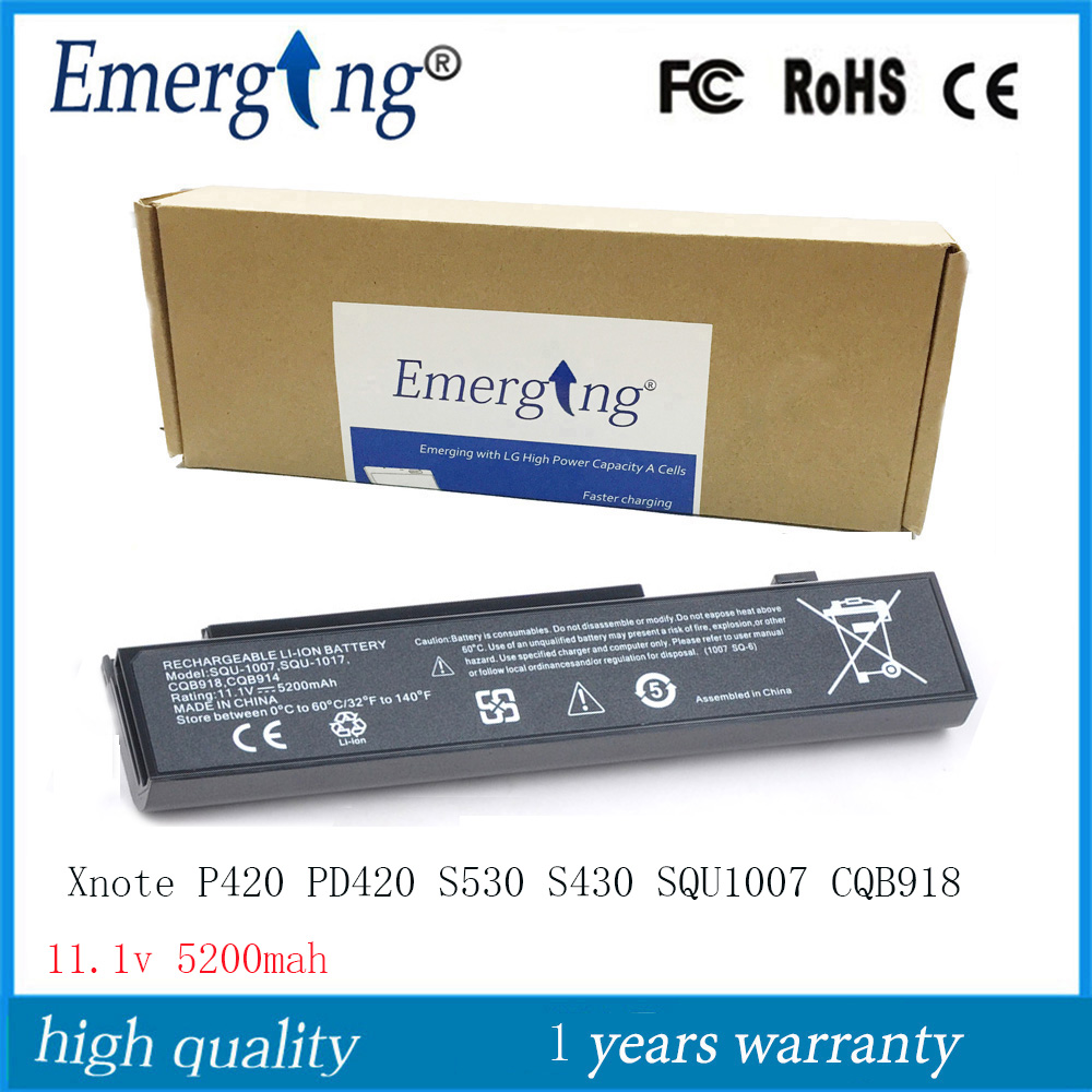 High Quality New Laptop Battery for LG Xnote P420 PD420 S530 S430 SQU-1007 CQB918
