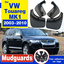 For VW Touareg 1 Mk1 2003 - 2010 Mudflaps Splash Guards Front Rear Mud Flap Flaps Mudguards Fender 2004 2005 2006 2007 2008 2009 цена 2017
