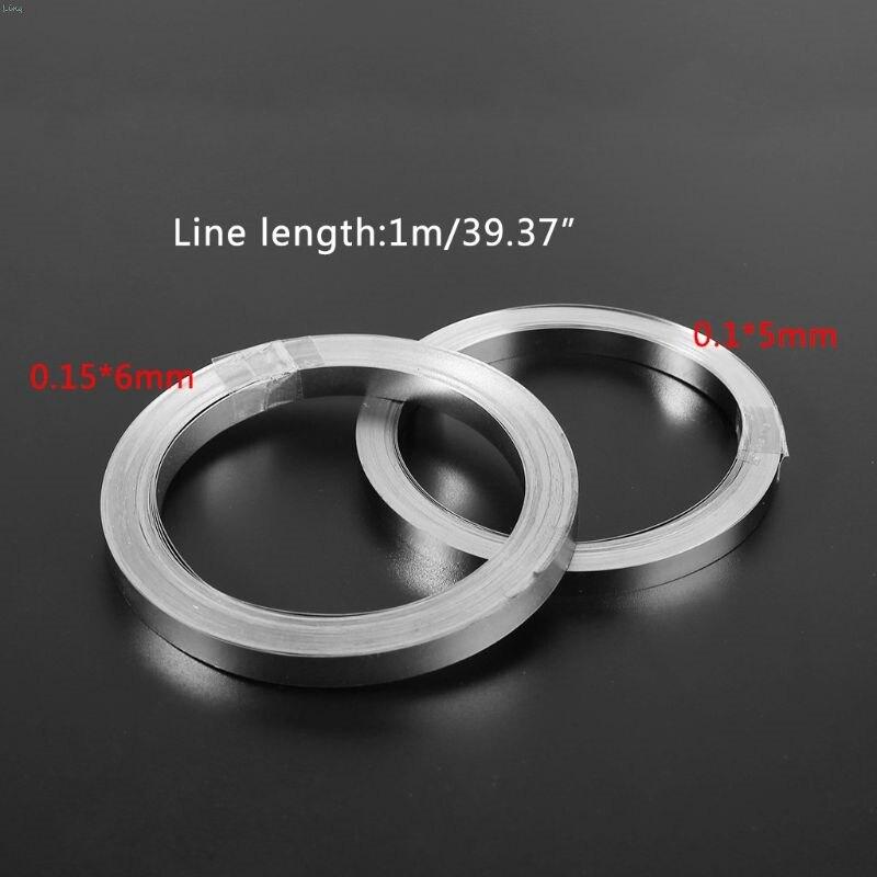 10m Nickel-plated Strip Tape For Li 18650 Battery Spot Welding 0.1x5mm/0.15x6mm L29k