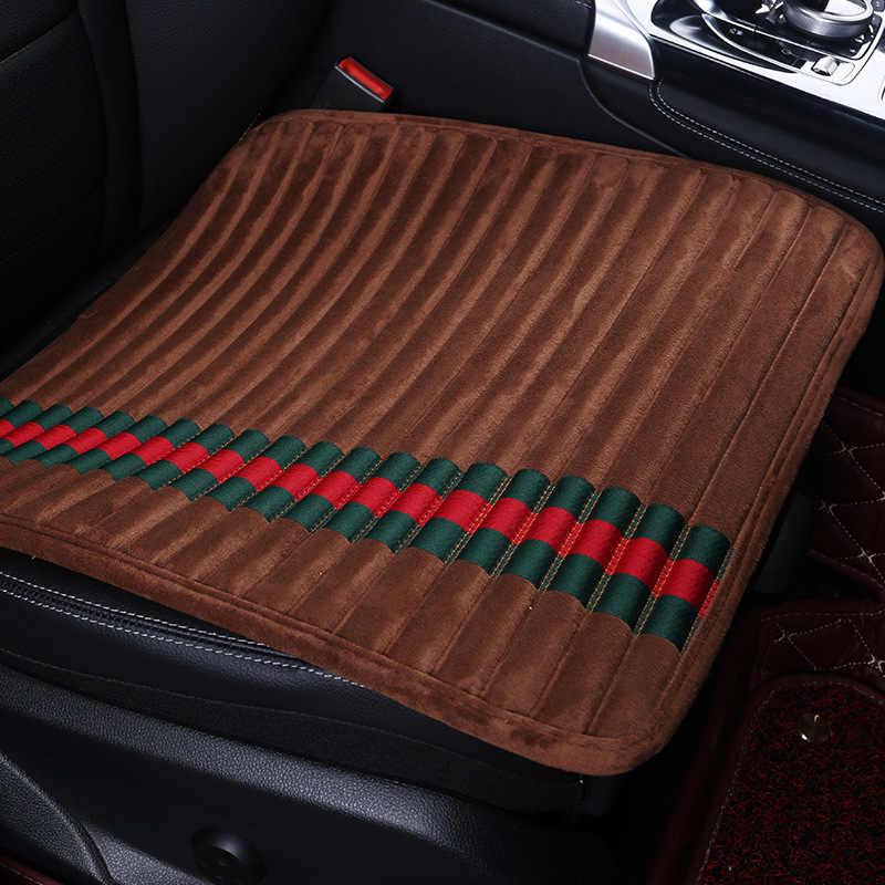 غطاء مقعد السيارة شريط مكافحة زلة وسادة الخريف والشتاء الدافئة قصيرة أفخم بدن ثلاث قطع مجموعة أريكة كرسي مقعد وسادة