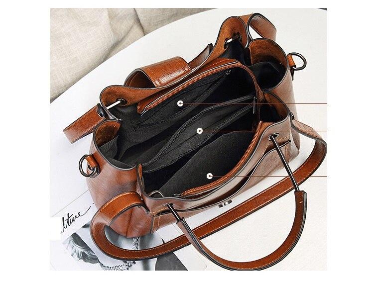 couro genuíno grande bolsa para bolsas de