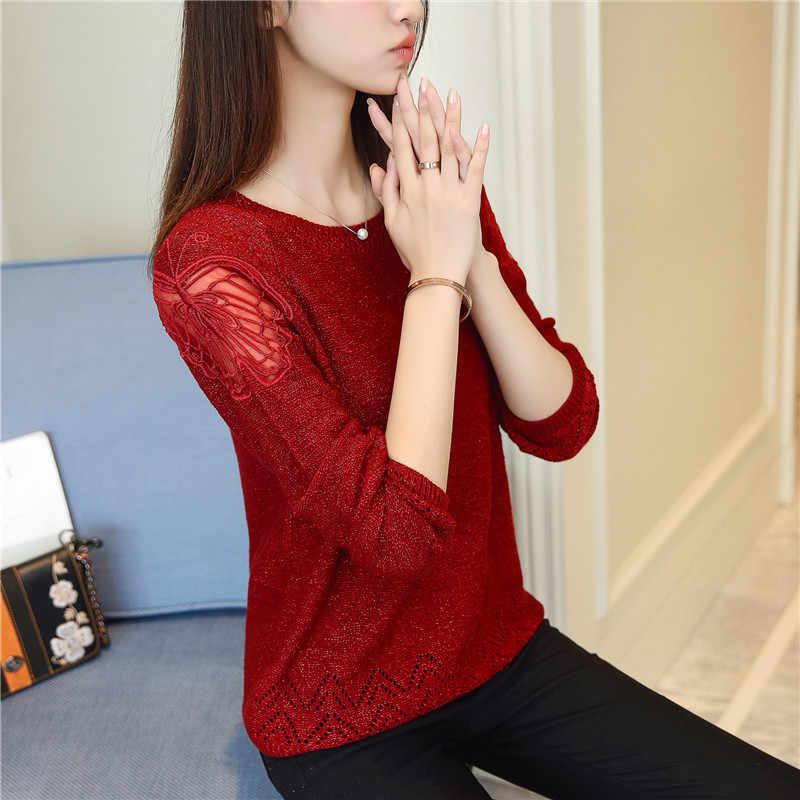 2019 para mujeres suéteres y chaqueta Blusas Feminino De Inverno femenina suéter nuevo otoño las mujeres coreanas F1900