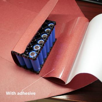 Podkładka izolacyjna specjalna naklejka izolacyjna do baterii litowej papier odporny na temperaturę czerwony karton szybka czerwona stal tanie i dobre opinie ZUCZUG Brak 0 4MM
