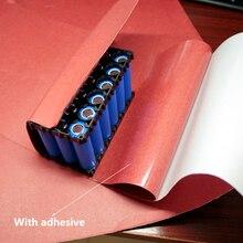 Podkładka izolacyjna specjalna naklejka izolacyjna do baterii litowej papier odporny na temperaturę czerwony karton szybka czerwona stal