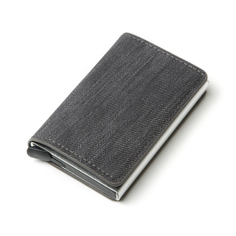 ZOVYVOL 2020 Business ID Credit Card Holder Men And Women Metal RFID Vintage Aluminium Box PU Leather Card Wallet Note Carbon