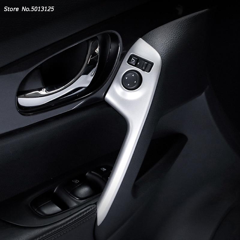 ABS Chrome mat garniture intérieure accoudoir de porte décoration couvercle garniture intérieure panneau de porte poignée tirer garniture pour Nissan x-trail Xtrail T32