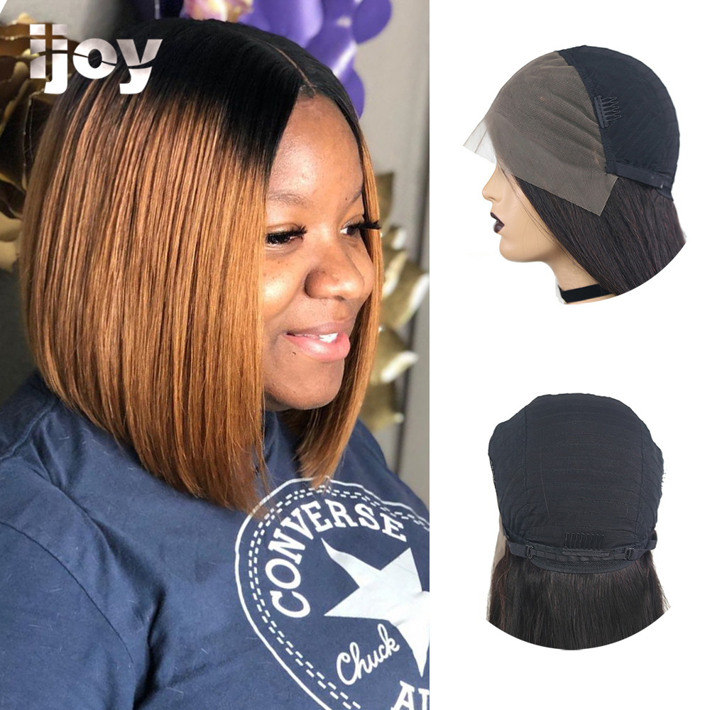 """Bob Ombre Colored Straight Wig 4x13 Lace Front 10""""-16"""