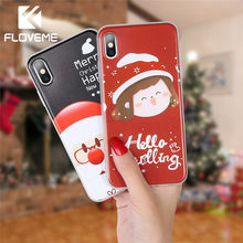 FLOVEME Christmas Case For iPhone 11 Pro Max 11 Pro 11 Soft Christmas Case For iPhone 7 8 7 Plus XS Max XR XS 6S 6 Capinhas Capa(China)