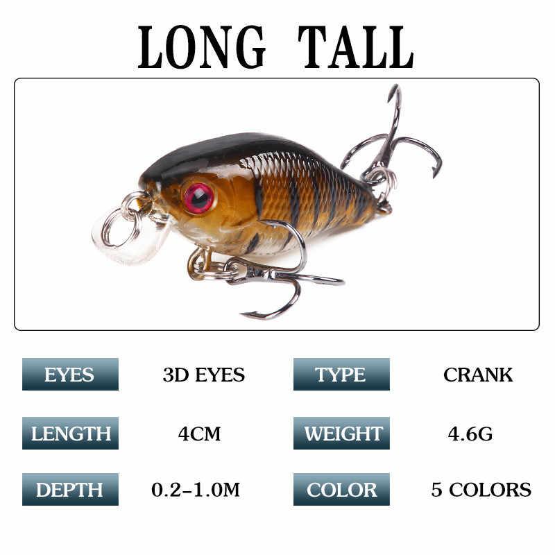 Crankbait Top water carp fishing jerkbait peche en mer wobler na ryby pike minnow jigowanie przynęta 4 cm/4.6g pływające przynęty Tackle