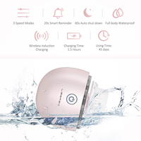 Liberex Egg Oscillation Facial Cleansing Brush Powered Face Cleaning Devices 3 Replacement Brush Heads IPX7 3 Modes Skin Care 3