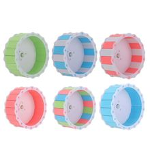 Running-Wheel Hamster Pet Guinea-Pig Small Silent Roller Pet-Toy Wood-Plastic-Board Colorful