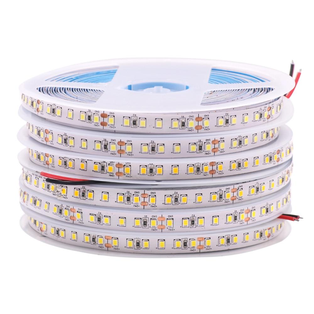 High Brightness 5M LED Strip Light 2835 24V DC 10m 15m 20m LED Tape Ribbon String 120LED/m Bedroom Home Decoration Natural White