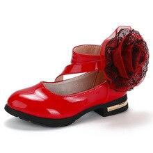 Shoes Flower Wedding High-Heel Girls 12-Year-Old Princess Childrens Autumn for Big Kid