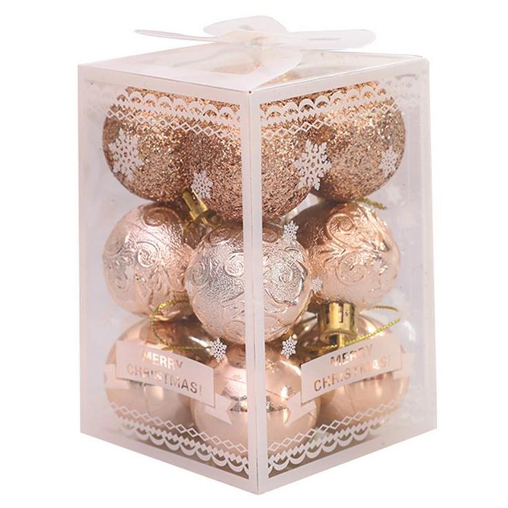 12 шт. Рождественская елка шар-безделушка подвесные шары для дома вечерние украшения для рождественской елки Декор вечерние свадебные украш...