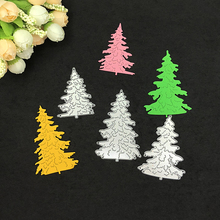 Christmas Trees Stencil Template Metal Cutting Dies Scrapbooking Card DIY Embossing Blade Punch Knife Mould Decorative Craft