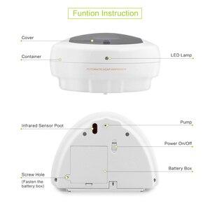 Image 5 - 450ml fixado na parede dispensador de sabão automático líquido abs acessórios do banheiro sensor touchless desinfetante dispensador sabão forkitchen