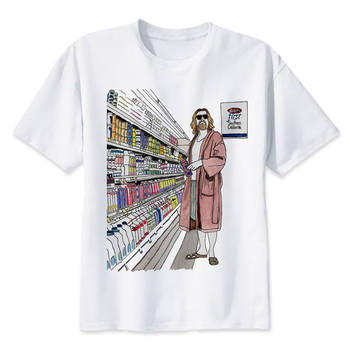 the big lebowski dude t shirt men cartoon 2017 cool funny white tshirt print T-shirt men Tees
