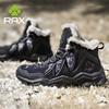 RAX Men Hiking Shoes winter Waterproof Outdoor Sneaker Men Leather Trekking Boots Trail Camping Climbing snow Sneakers Women