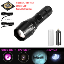 A100 OSRAM IR 850nm-940nm Night Vision Flashlight Infrared Waterproof Flashlight Zoomable LED Light  used with night vision devi uniquefire 1502 4715as ir850nm ir flashlight zoomable 3 modes night vision led lamp torch fill light night vision to hunt