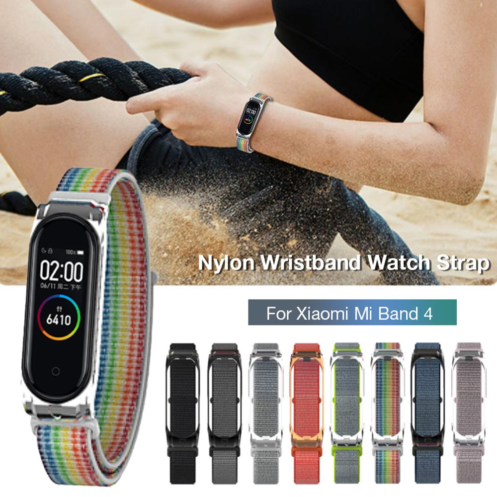 Xiaomi Watch-Band Accessorie Metal-Shell Smart-Watch 4-Bracelet Nylon Replacement Breathable