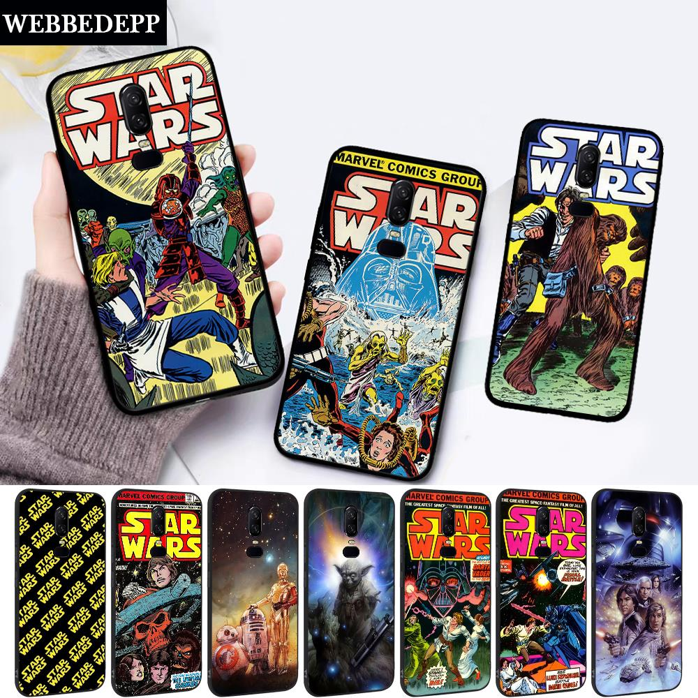Star Wars Movie Comic Guys Holding Silicone soft Case for Oneplus 5 5T 6 6T 7 Pro image