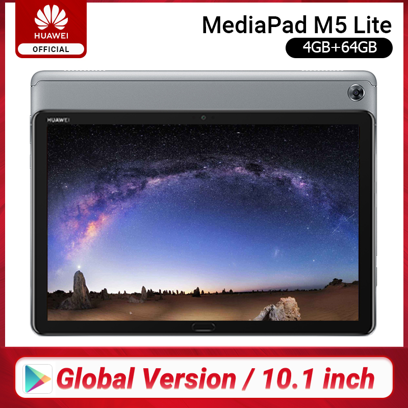 Global Version HUAWEI MediaPad M5 Lite Tablet PC 10.1 Inch 3GB 32GB Kirin 659 Octa Core LTE 7500 MAh Android 8.0 Support MicroSD