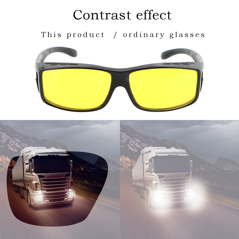 LEEPEE Fits Over Your Prescription Glasses Driver Goggles Eyewear Car Driving Glasses Sunglasses HD Night Vision Goggles