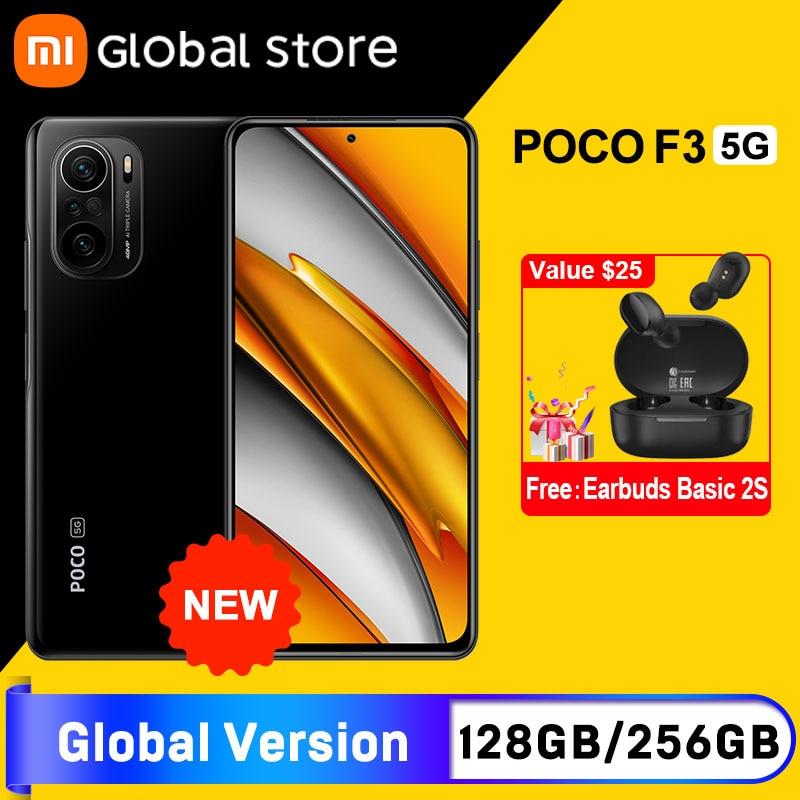 """Глобальная версия смартфона POCO F3 5G 6 ГБ 128 ГБ/8 ГБ 256 ГБ Восьмиядерный Snapdragon 870 6,67 """"120 Гц E4 AMOLED дисплей"""