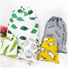 Cotton Drawstring Pouch Storage Travel Cute Fashion Cosmetics Multifunctional New-Hot