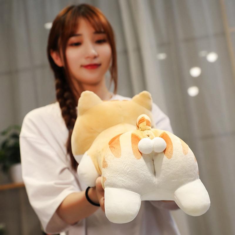 New Egg Sexy Butt Cat Pillow Creative Animal Plush Toy Soft Stuffed Cushion Kawaii Hairy Doll Child Girl Lovely Birthday Gift