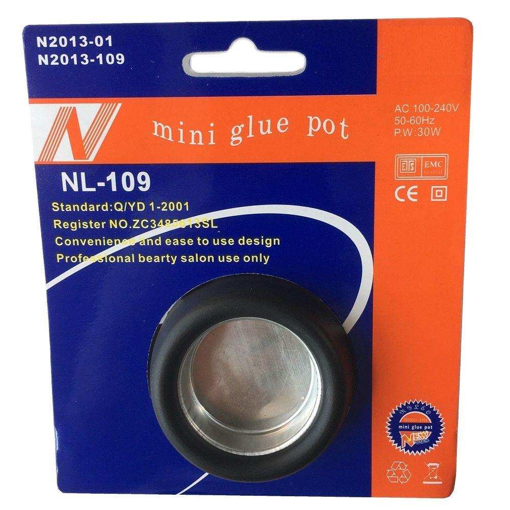1 pc EU/US 30W Mini Hot Glue Pot Hot Fusion Hair Extension Tools professional hair extension tool- beauty salon