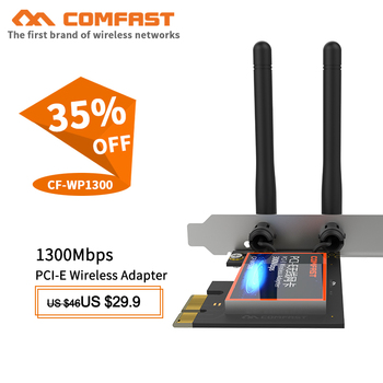 300mbps dual band wifi pci e adapter antennas wireless computer network pcie card 802 11a b g n 300m wifi wlan for desktop pc 1300Mbps Dual band DUAL antenna Desktop WiFi PCI-E wireless wifi adapter 802.11ac/b/g/n PCI-Express 1X/4X/8X/16X network Card