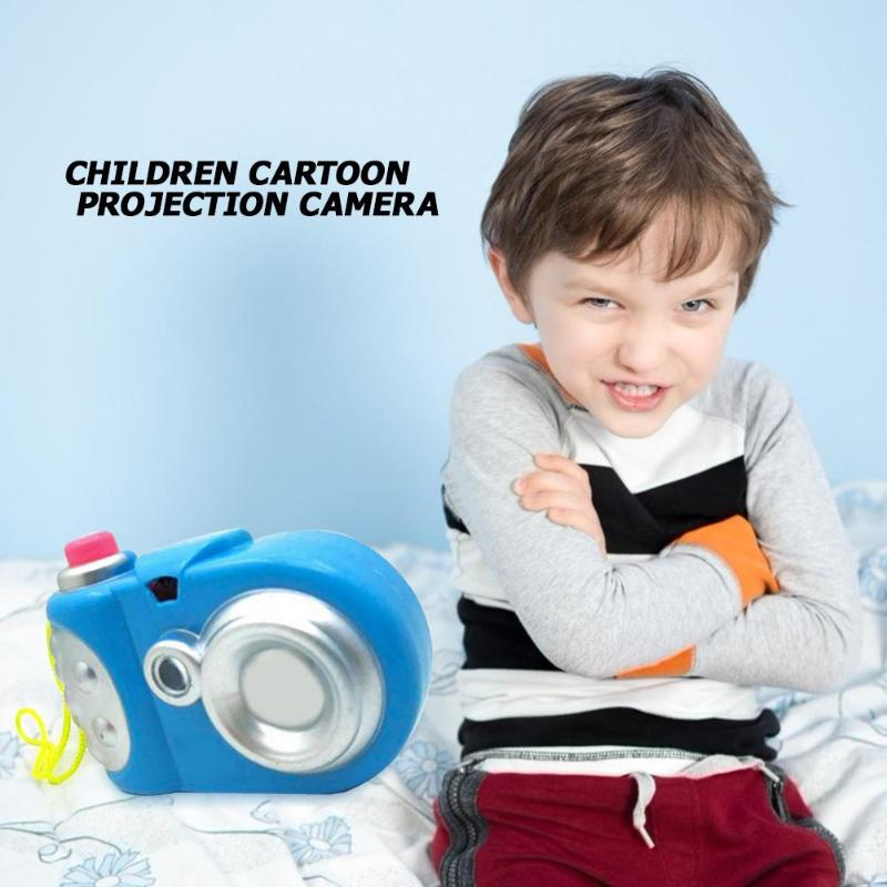 Kids Mini Cartoon Plastic Simulation Camera 8 Different Light Patterns Children Educational Projector Toy Random Color