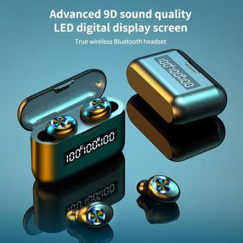 X35 2000mAh Digital Display Touch 5.0 Bluetooth Earphone IPX7 Waterproof Earpieces 9D Sound Earbuds