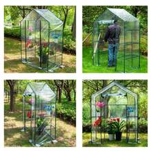 New PVC DIY Walk-in Greenhouse Plant Cover Home Outdoor Flower Plant Gardening Waterproof Winter Shelf Garden Decor 143x73x195cm(China)