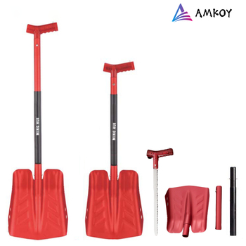 Large Size Outdoor Camping Shovel Survival Shovel Upscale Outdoor Folding Shovel Survival Camp Spade Tool Adjustable Snow Shovel