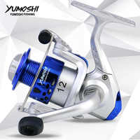 YUMOSHI Spinning Fishing Reel HC2000A VX2000 SQ2000 Sea Fishing Reel Left/Right 12BB Up 5.5:1 Tackle Casting Fishing Reel