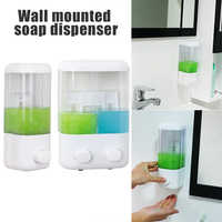 Single/Double Soap Dispenser Gel Bathroom Shampoo Pump 500/1000ml Liquid Body Lotion Wall Mounted Hand Wash Shower Kitchen