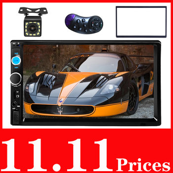 Temporary Parking Card Phone Number 2 Din Car Radio 7 HD Autoradio Multimedia Player Stereo MP5 Bluetooth USB TF FM image