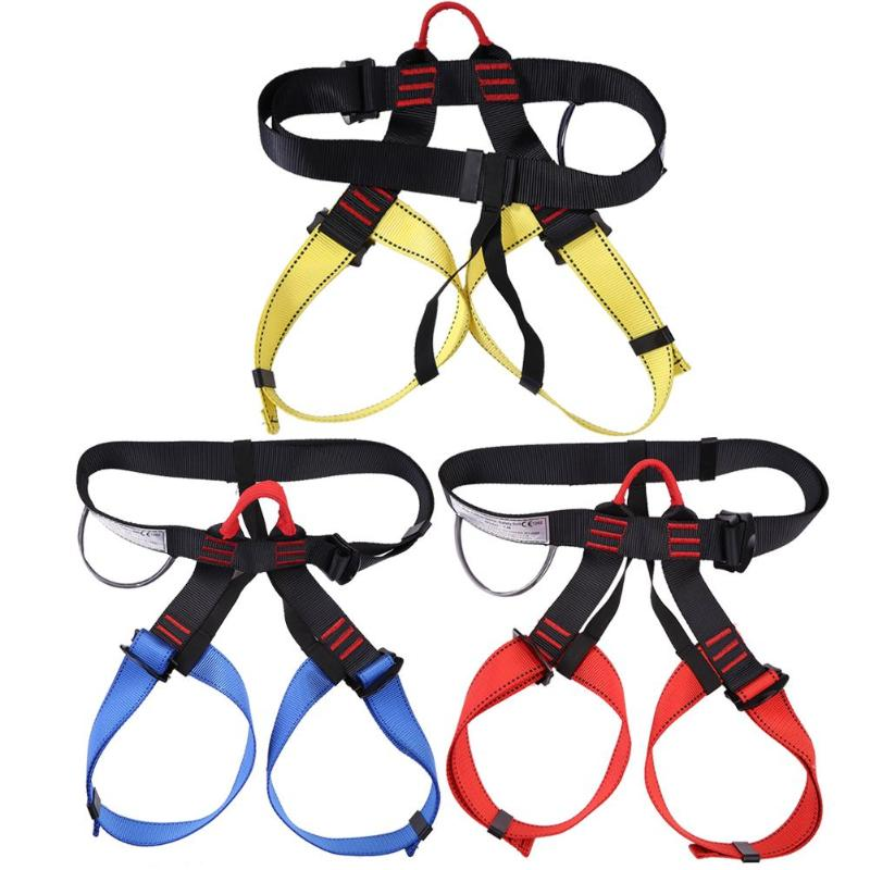 Outdoor Sports Rock Climbing Harness Waist Support Half Body Safety Belt Rock Accessory Seat Belts Sitting Rappelling Tool