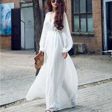 New Long Sleeve Dresses Fashion Fairy Chiffon Beach