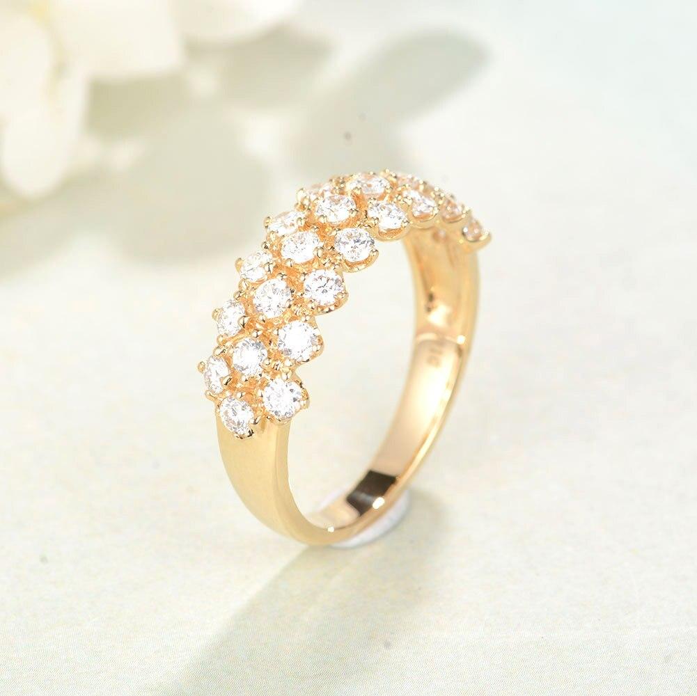 Gold 14K Ring Luxury Diamond Ring Simulated Engagement Peridot Bizuteria Topaz anel bijoux femme Rings Anillos mujer Gemstone
